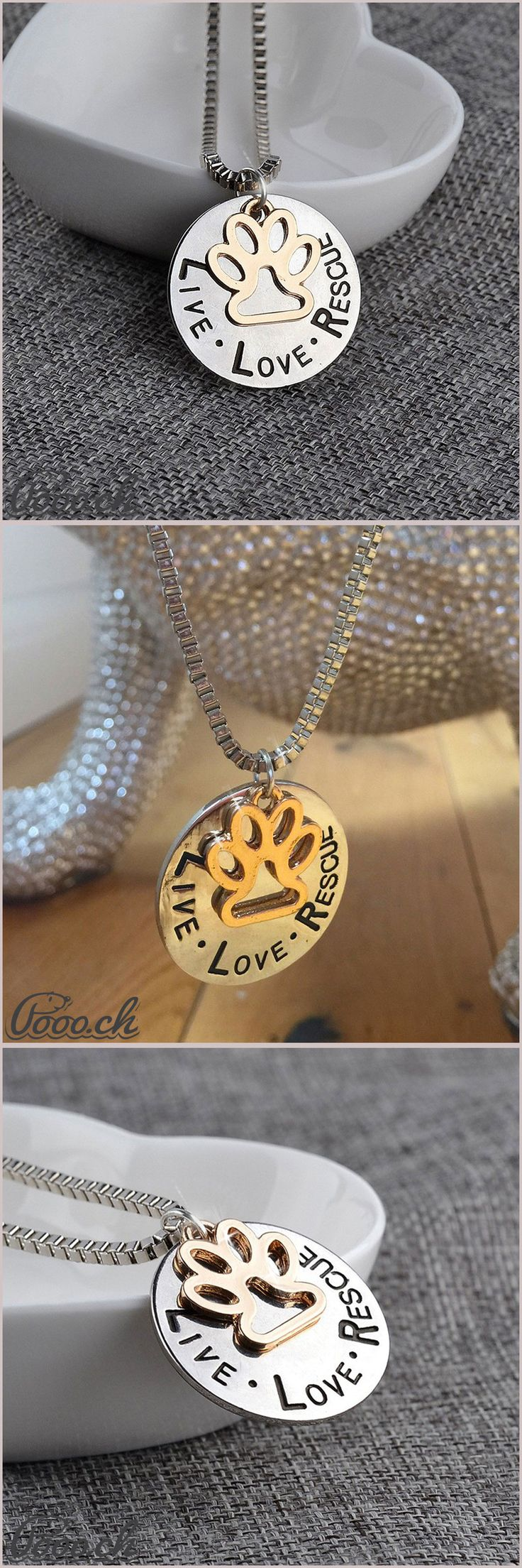 Stunning Live Love Rescue Necklace | Pooo.ch