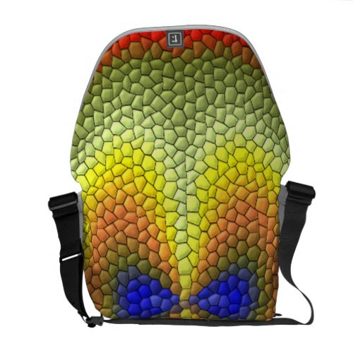 Colorful abstract tile pattern courier bags