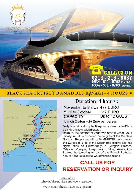 AS Lifestyle Concierge and Real Estate Services Ltd. Sti.: Black Sea Cruise to Anadolu Kavağı