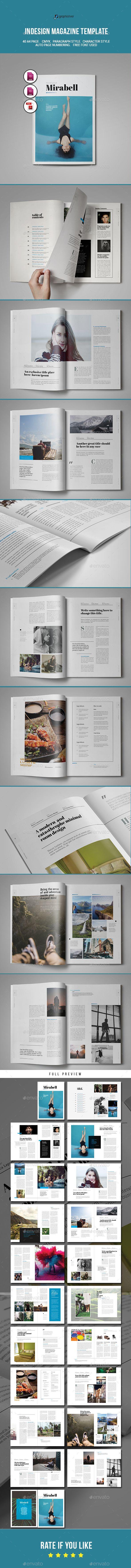 Indesign Magazine Template - #Magazines Print Templates