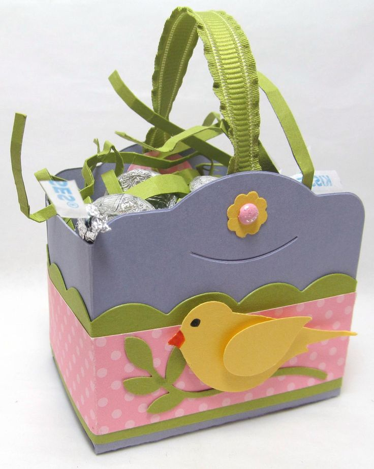 256 best treat boxesbags easter images on pinterest cookie box cute little easter basket using two tags die from stampin negle Choice Image