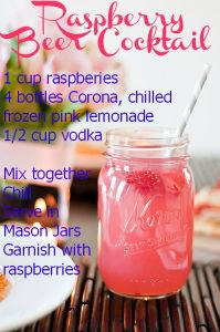 Raspberry Beer Cocktail - gonna try with gluten free beer this summer :)