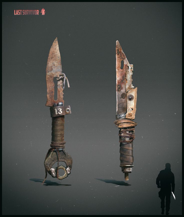 ArtStation - Melee weapon design. Post apocalyptic setting, Anton Kazakov