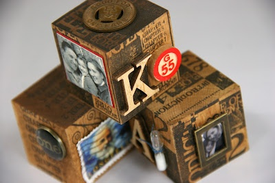 Altered Wooden Blocks, Project for my blog - Kay's Keepsakes