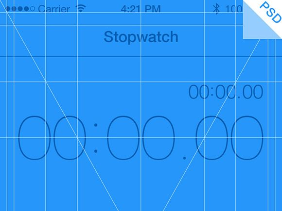 iPhone 5 App Grid PSD #FreePsd from http://ortheme.com