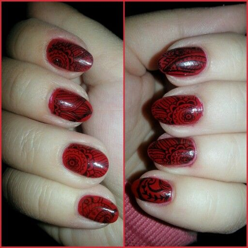 Fame fatale stamping nails -essence the gel nail polish 16 fame fatal #nailart #essencenailpolish