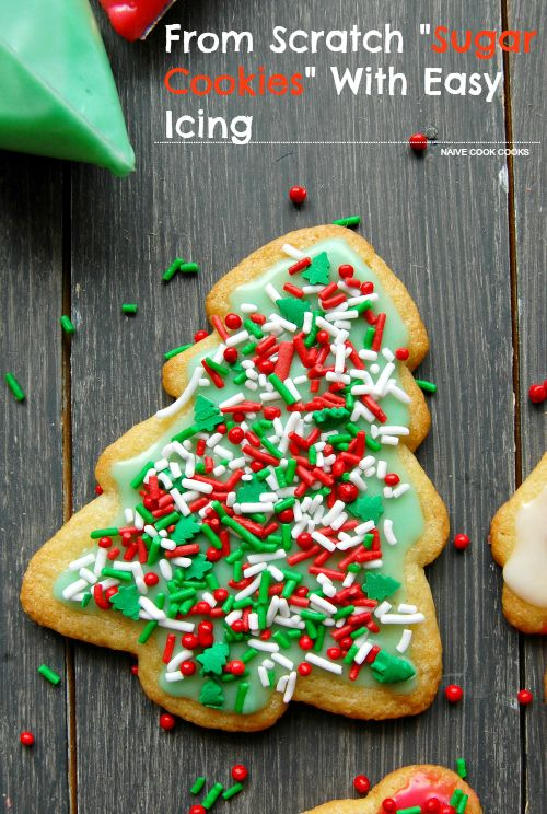 From Scratch Sugar Cookies (NO CHILLING REQUIRED!) With Easy Icing