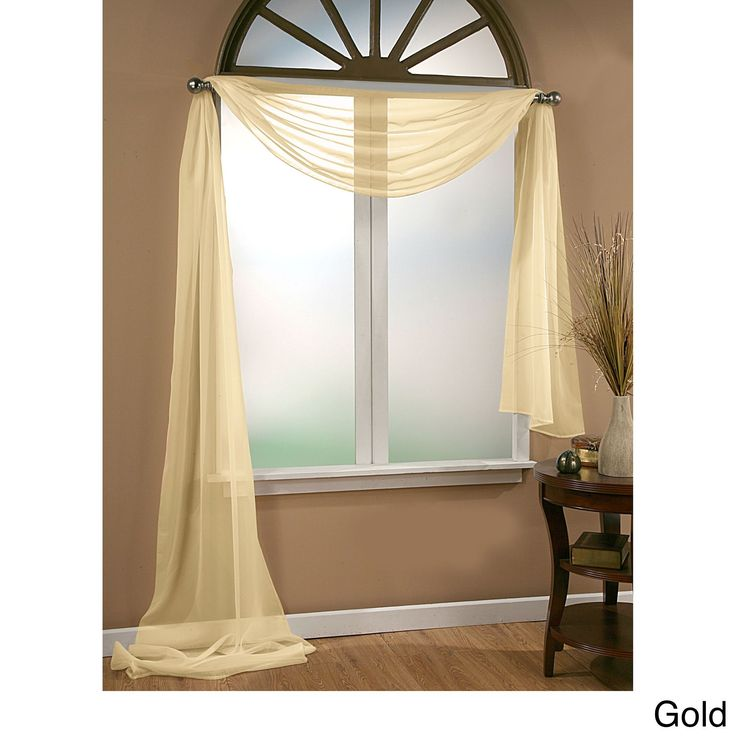 Sheer Scarf Valance Window Treatments Part - 19: @Overstock.com.com.com - Infinity Sheer Window Scarf Valance - Create