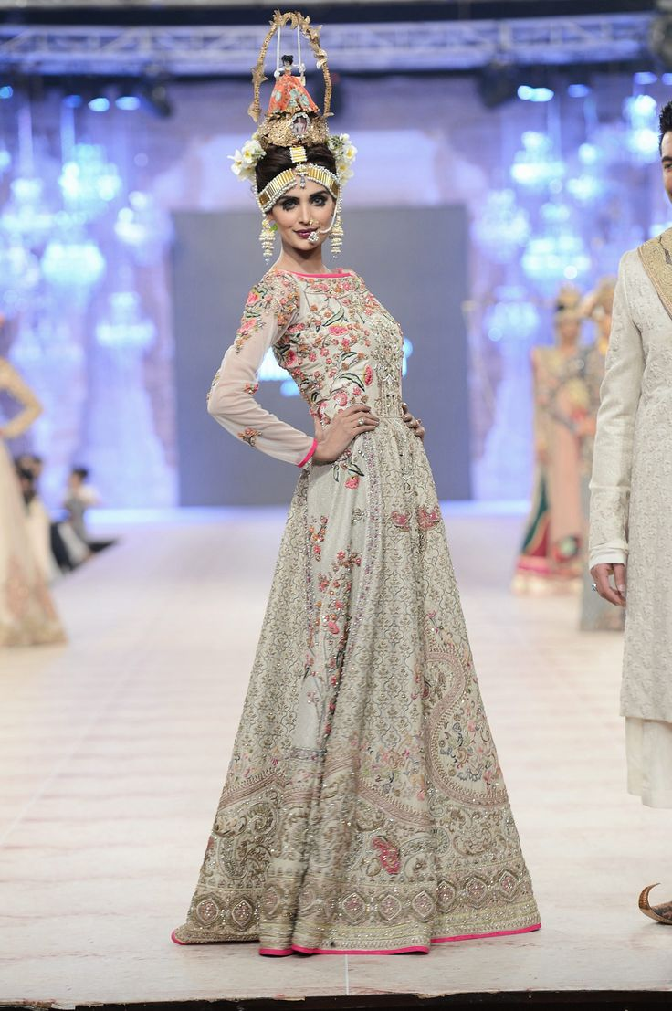 PFDC Loreal Paris Bridal a Week 2014 - Fahad Husayn- love the dress. Not so much the head piece