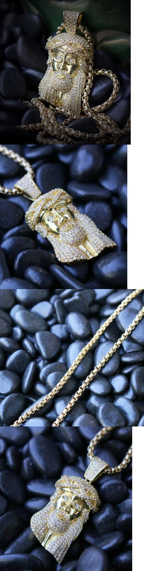 Necklaces and Pendants 155101: Mini Hip Hop Gold Plated Jesus Piece Charm Pendant With Pearl Box Chain Necklace -> BUY IT NOW ONLY: $35.87 on eBay!