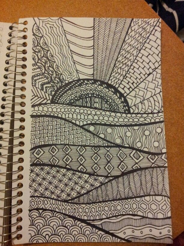 I like the flowing lines that seperate the different patterns  #zentangle