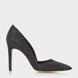 ALIA - Reptile Print Pointed Toe Heeled Court Shoe DUNE LONDON