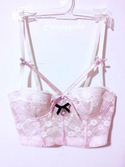 Pastel pink bustier bra, crop top