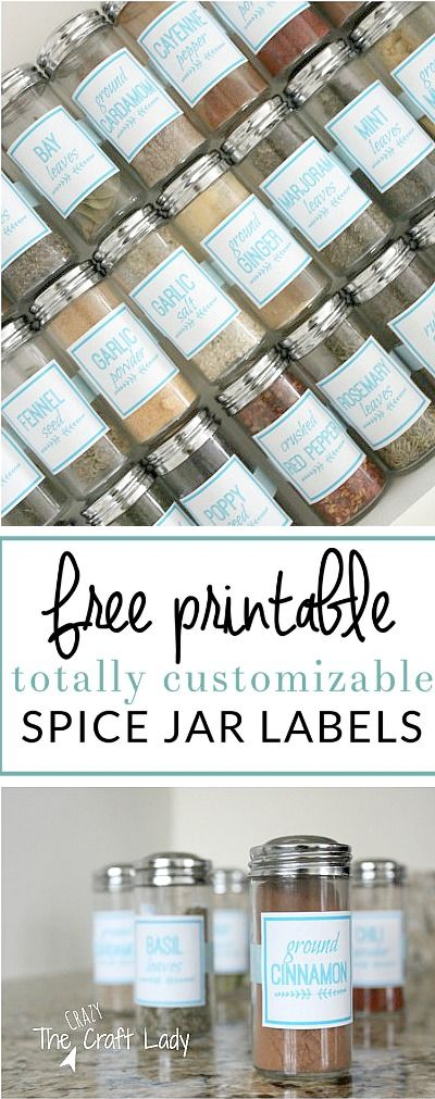 Make these DIY spice jar labels in PicMonkey and organize your spice drawer. Learn how to make custom labels in any color, font, or size - for FREE!