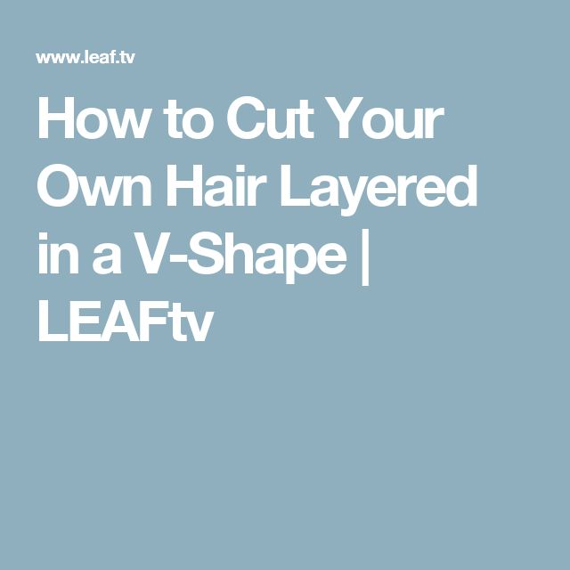 how to cut layers in hair yourself