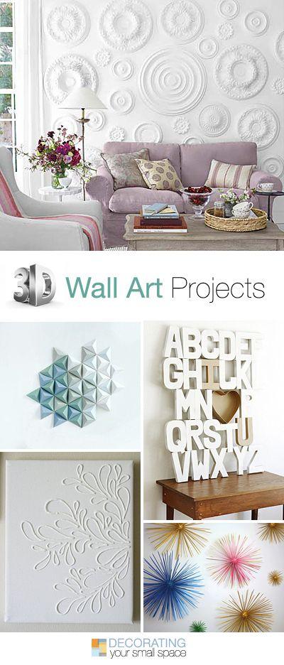 3D Wall Art Projects • Great Ideas & tutorials!