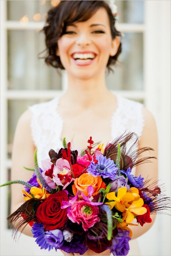 vibrant wedding bouquet  #Events by Heather Ham and Picotte Weddings