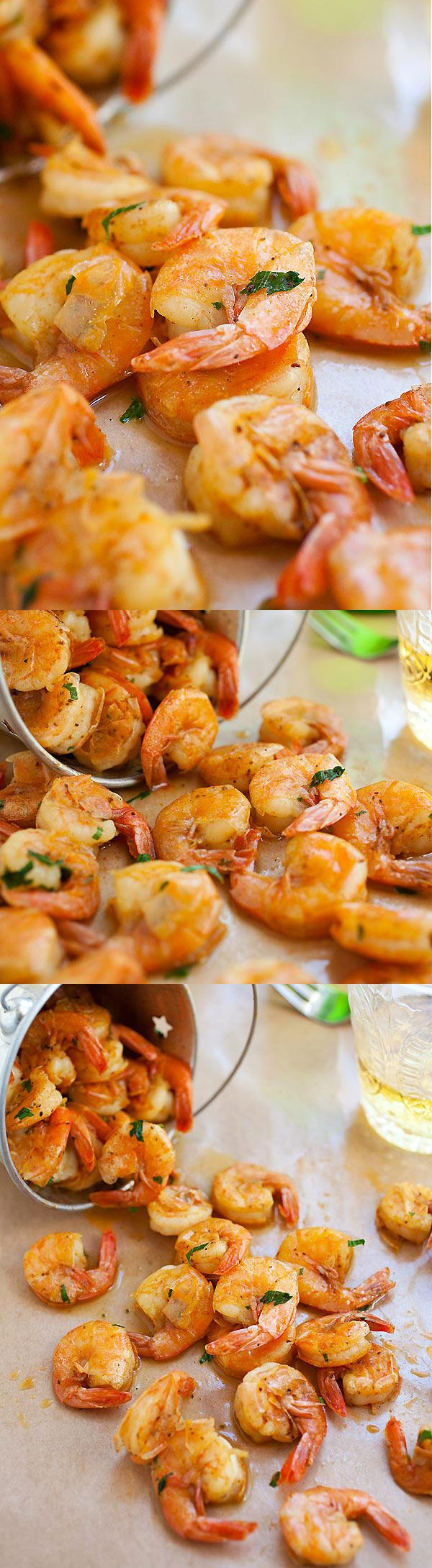 Peel and Eat Shrimp – the easiest shrimp recipe made with butter, beer and spices. Takes 10 mins to make and a staple for summertime! | rasamalaysia.com