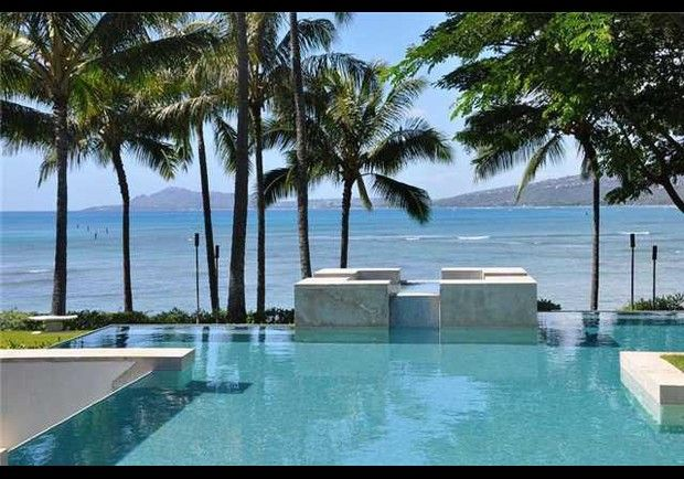 Portlock Rd Honolulu, HI    Both the communal rooms and the bedroom suites in this 12,600-square foot beachfront manse open out onto decks leading to and in some cases across swimming pools and decorative ponds.