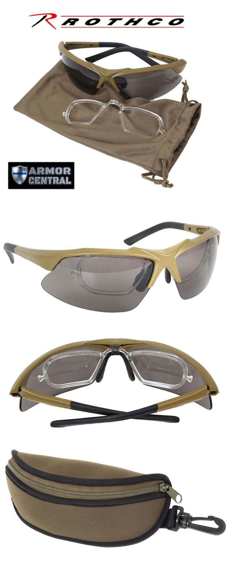 Shooting and Safety Glasses 151549: Rothco Coyote Tactical Eyewear Sunglasses Prescription And Ballistic Lens - 10537 -> BUY IT NOW ONLY: $31.95 on eBay!