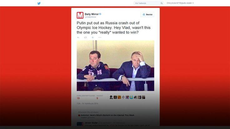 Mököttävä Putin ja muita muunneltuja totuuksia. - Tunnistatko huijauksen? YLE Kuva Daily Mirror -lehden Twitter-tililtä.