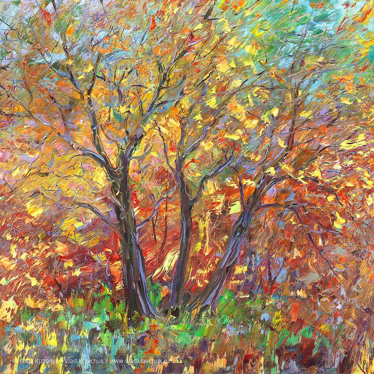Краски осени, 2012. Холст, масло, 80х80