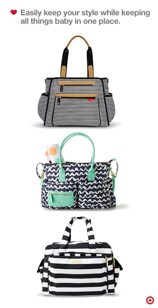 Find a diaper bag that's just your style, from classic shoulder bags and backpacks, to trend-right totes and messenger bags. There are literally hundreds of bags in a variety of colors, patterns and sizes that will suit your (and Baby's) needs. The real question is, how will you whittle the choices down to one — or maybe two? Add more than one to your Baby Registry to keep your style options open.