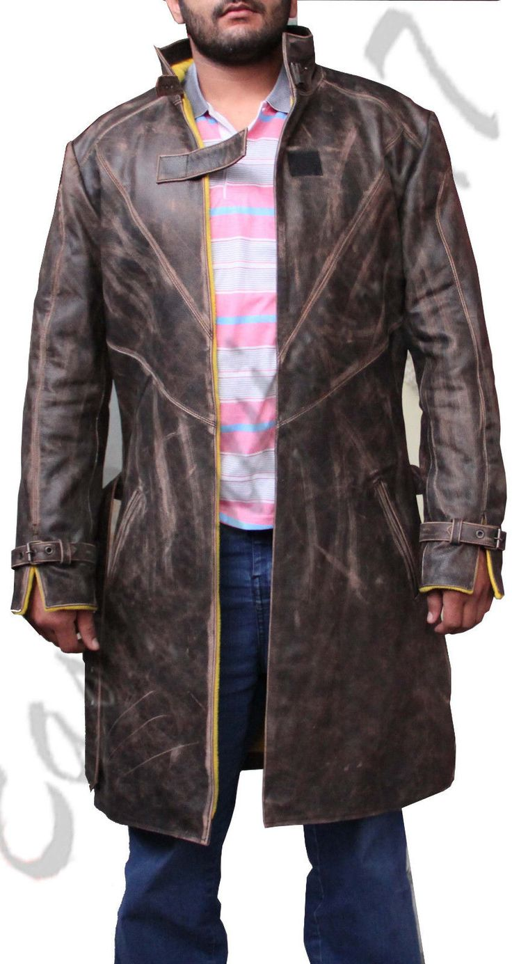 Watch Dogs Aiden Pearce Trench Coat Watch Dogs Men Brown