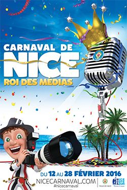 Carnaval de Nice 2016 : le programme officiel de sa Majesté le Roi des Médias - Découvrez l'article sur le blog de Mister Riviera : lifestyle, tendances, bons plans, sorties à Nice, Cannes, Antibes, Monaco, Côte d'Azur, French Riviera