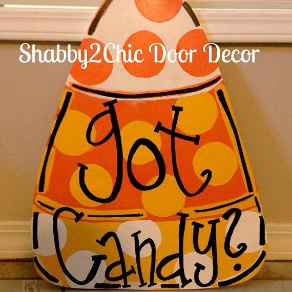 Got Candy door hanger, Halloween decoration, Halloween door decor, Halloween yard sign, handmade door hanger