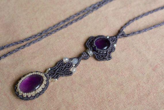 ENVÍO gratis joyas de macrame collar macrame por EarthCraftHandmade