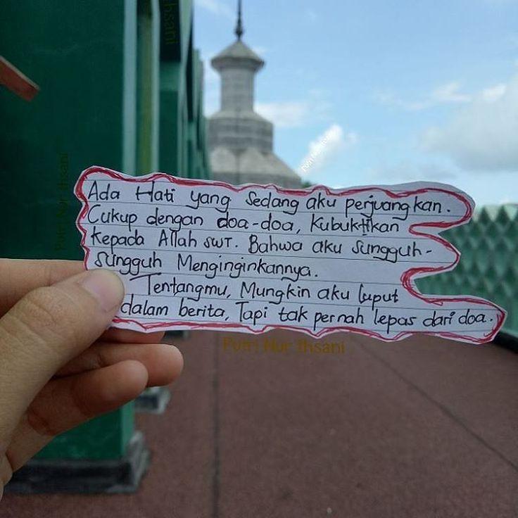 .Mencintai adalah belajar mengikhlaskan.Mengikhlaskan dalam DOA. bukan belajar memiliki. Karena semua yang kita cintai sejatinya MILIK ALLAH dan akan disatukan lalu di pisahkan atas ridhaNya.. . .Cinta memang diam dalam doa. Tapi ribut dilangit semoga ributnya doaku menjadi bahagiamu. . Yaa Muqallibal Quluub Tsabbit Qalbii 'Alaa diinika wa'alaa tho'athik. .  @putrinurihsani http://ift.tt/2f12zSN