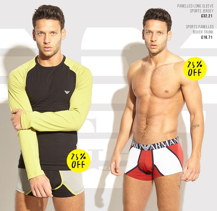 Armani Sportswear sale... For your New Years resolutions