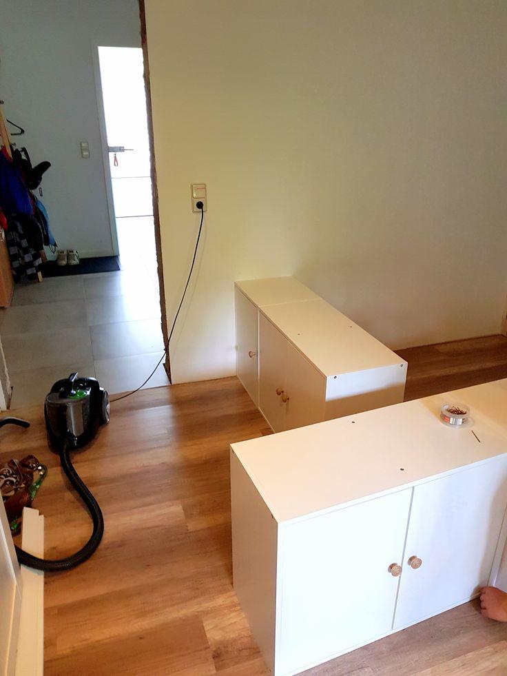 DIY Jugendzimmer: Hochbett mit Ikea-Küchenschränken als Unterbau DIY / Ikea / Metod / Unterschrank / Küche / Bett / Hochbett / Unterbau / Jugend / Zimmer / Schlafzimmer