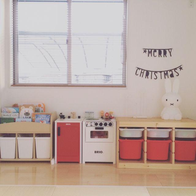 makishimakishimaさんの、部屋全体,IKEA,イケア,和室,ミッフィー,ウッドブラインド,ままごとキッチン,トロファスト,キッズスペース,新築,おままごと,絵本棚,BRIO,マイホーム,miffy,注文住宅,キッズインテリア,シンプルインテリア,kids space,IGやってます,TROFAST,Myhome,IG→______________.ma,のお部屋写真