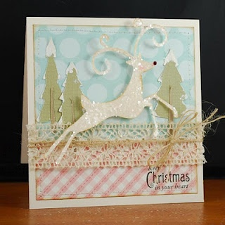 Winter Woodland Cricut cartridge Christmas card by Melyssa Connolly Sentiment Waltzing Mouse Stamps