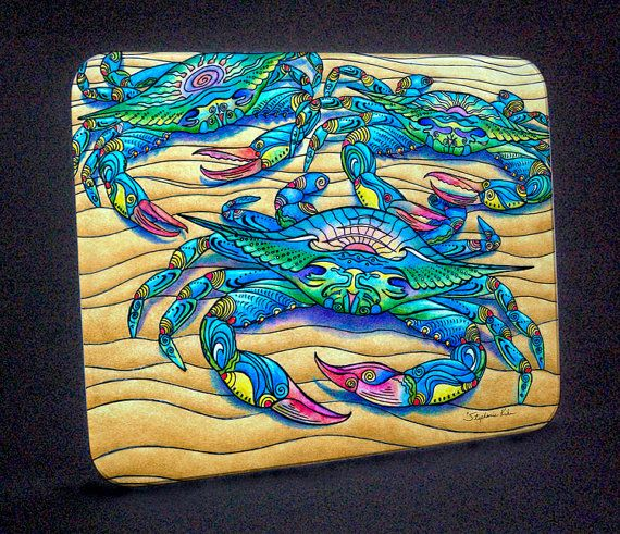 Blue Crabs Maryland Crabs Crabs Cutting Board by stephaniekiker