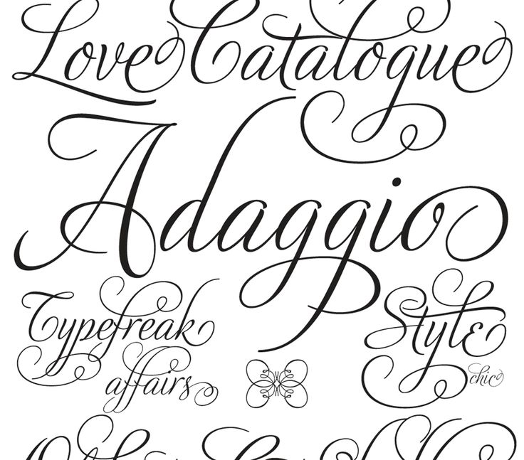 fancy tattoo fonts