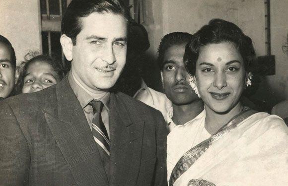 Nargis and Raj Kapoor