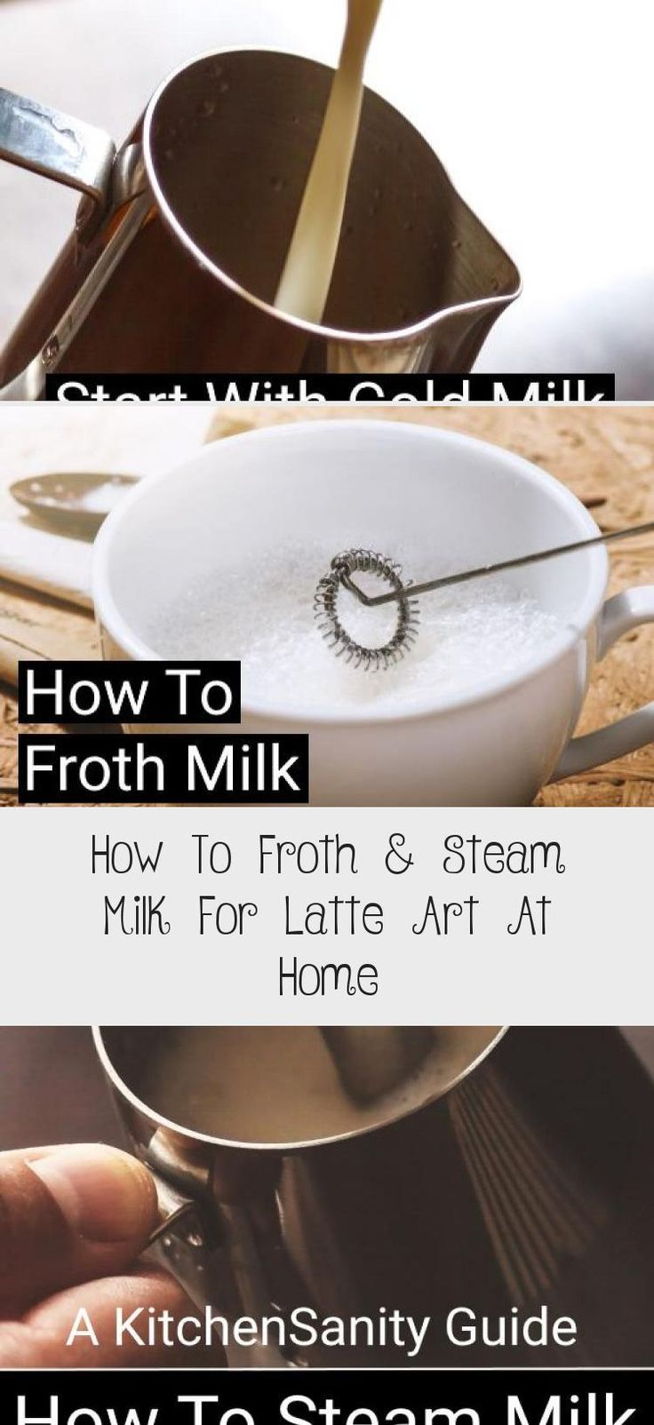 How To Froth & Steam Milk For Latte Art At Home COFFEE