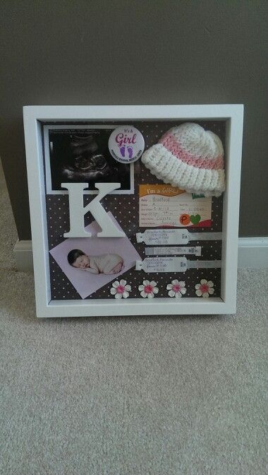 My baby girl's shadow box