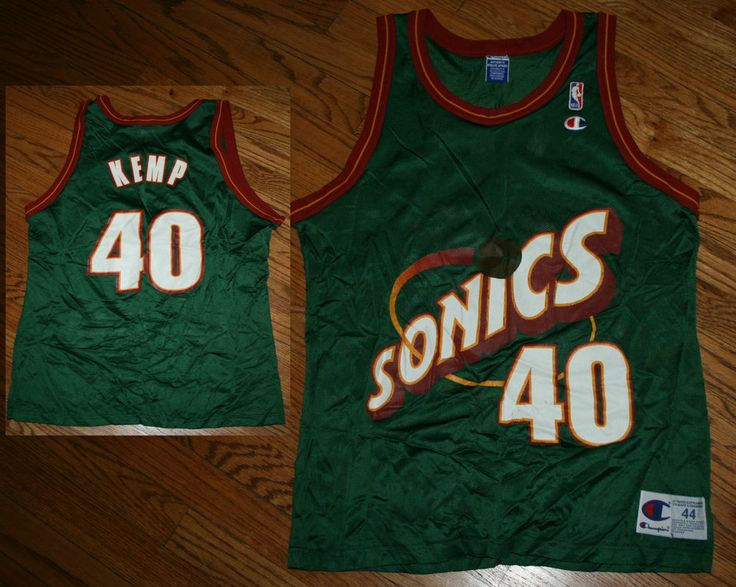 Vintage Shawn Kemp Seattle Supersonics Champion Basketball Jersey,AUMJSRI686,