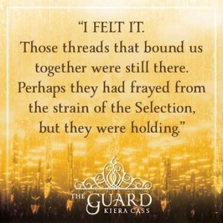 Quote #1 from THE GUARD by Kiera Cass. I don't like Aspen very much, he's kind of abusive