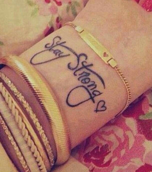 24 best images about tattoos on pinterest watercolors country girl tattoos and matching tattoos - Stay strong tatouage ...