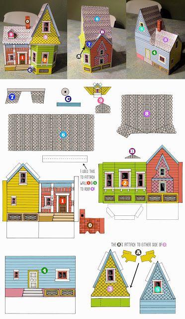 Casinhas de papel Dicas Printable Freebie da semana - Cantinho do blog
