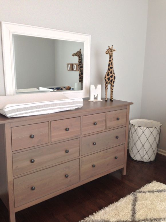 Neutral nursery on a budget, rustic nursery, classy nursery, gender neutral, changing table.