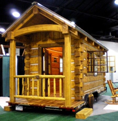 Forest Classics log cabin trailer