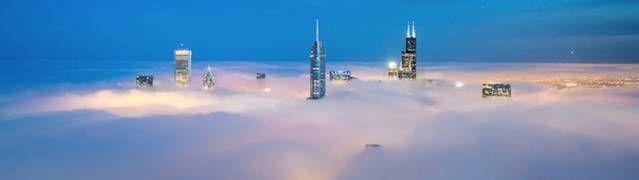 Depuis 6 ans, le photographe Peter Tsai documente la ligne d'horizon de la ville dans laquelle il habite : Chicago.