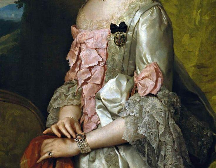 Anton Raphael Mengs (1728–1779)   Portrait of Maria Luisa of Spain (1745-1792),  1764/1765 [detail of the dress]