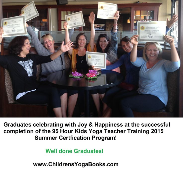 Congratulations graduates of the Kids Yoga Teacher Training Certification 95 Hour Program in Burlington, Ontario, Canada. Want to be a Kids Yoga Teacher?  Sign up at www.childrensyogabooks.com/training.html